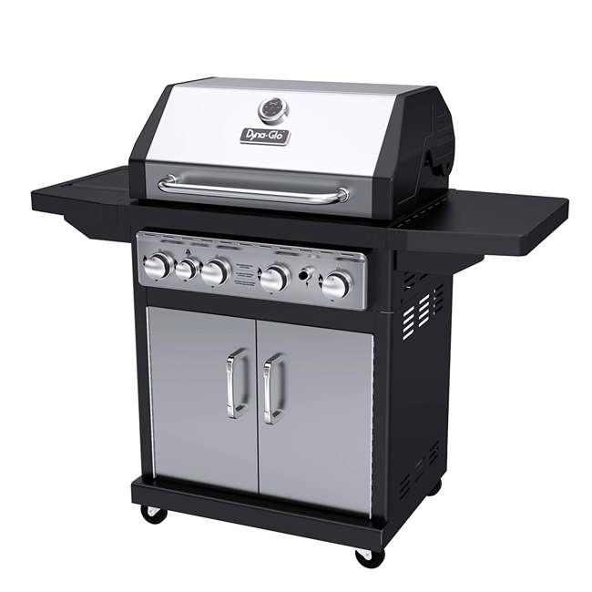 Dyna-Glo DGA480SSP-D Black & Stainless Premium Grills, 4 Burner, Liquid Propane Gas