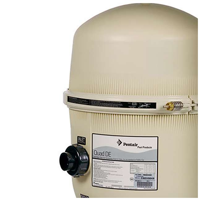 188592 Pentair 120 GPM 60 Square Foot Quad DE Cartridge Pool Filter (2 Pack) 3