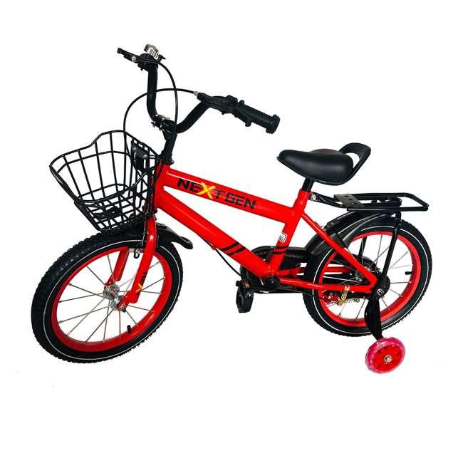 16BK-R NextGen 16 Inch Childrens Kids Bike Bicycle with Training Wheels & Basket, Red