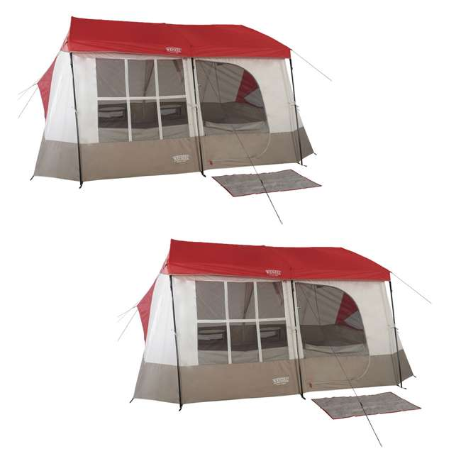 Wenzel Kodiak 9-Person Family Camping Cabin Tent (2 Pack ...