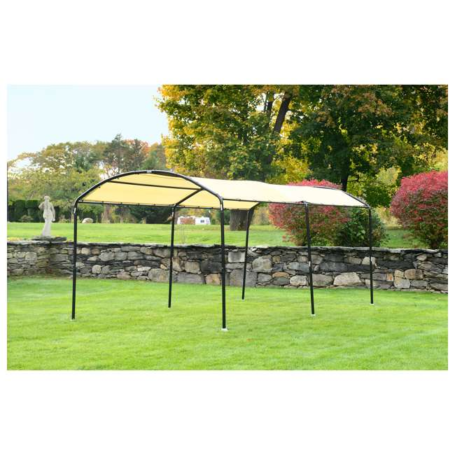 25867 ShelterLogic 25867 18 x 10-Foot Monarc Series All-Purpose Canopy, Sandstone 1