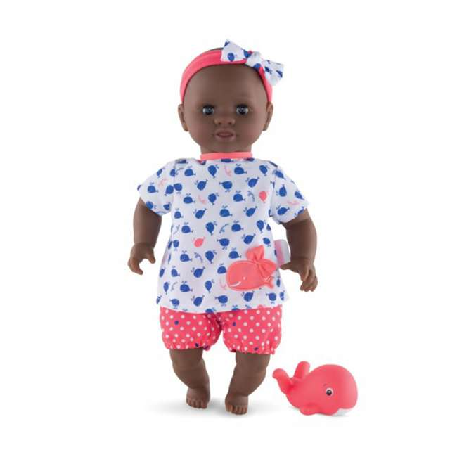 100120 Corolle Mon Premier Baby Bath Waterproof Vanilla Scented Alyzee Doll with Whale