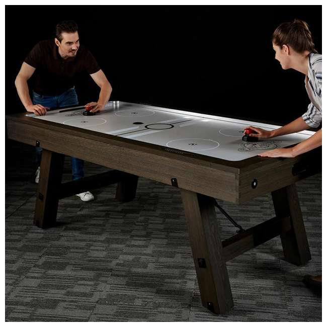AWH084_108P-U-B Lancaster 84 Inch Air Powered Air Hockey Table with Game Accessories (Used) 8