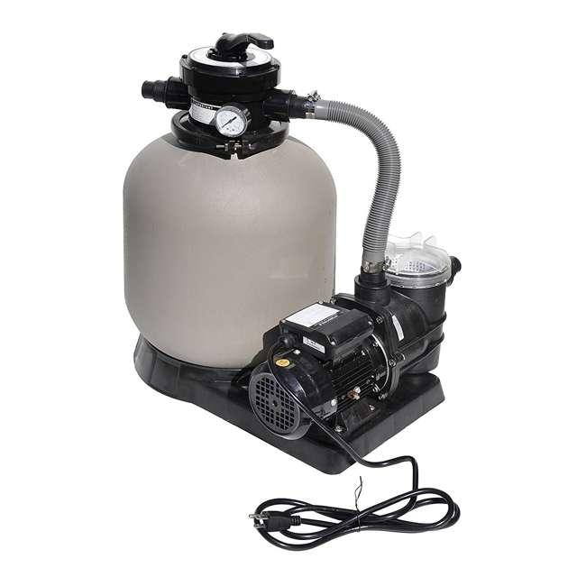 "71405-U-A Swimline 2400 GPH 14"" .5 HP High-Quality Pool Sand Filter Pump Combo (Open Box)"