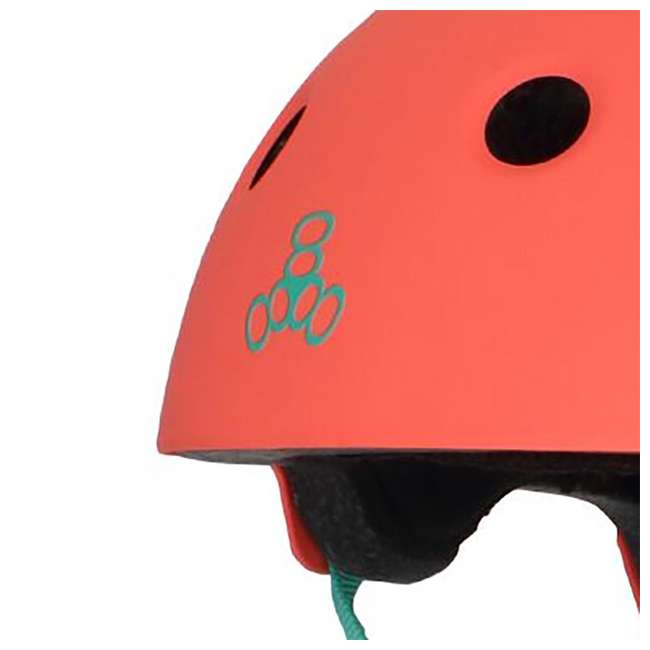 T8-3066 + 08149-SHARK Triple 8 Skate and Bike X-Small/Small Helmet, Neon Tangerine + Fathom Shark Wheel Skateboard 3