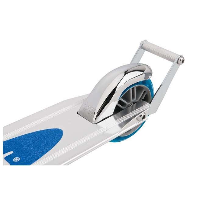 13003A2-CL + 13003A2-BL Razor A2 Kids Folding Aluminum 2 pack Kick Scooter w/ Wheelie Bar, Blue & Clear 8