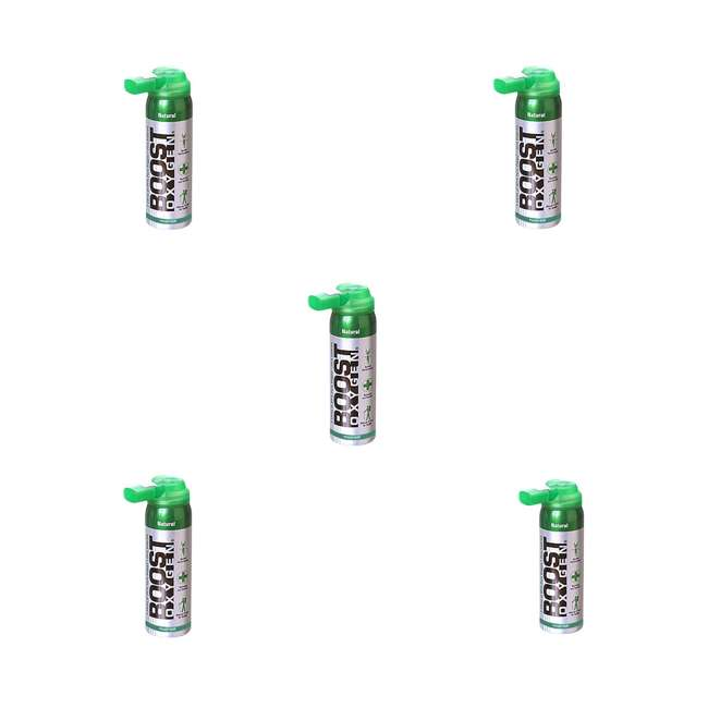 5 x 401-BOOST Boost Oxygen 2-Liter Natural Oxygen Canister (5 Pack)