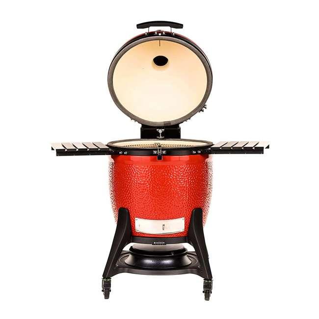 BJ24RHCI-A Kamado Joe BJ24NRHCI Big Joe III 24 In. Portable BBQ Ceramic Charcoal Grill, Red 1