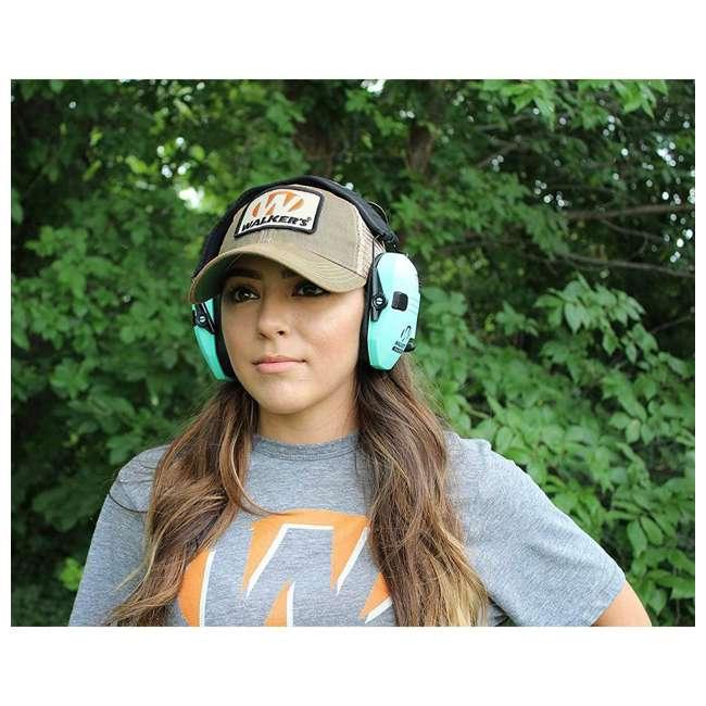 GWP-RSEM-LTL Walker's Razor Slim Hearing Protection Earmuff--Teal  1