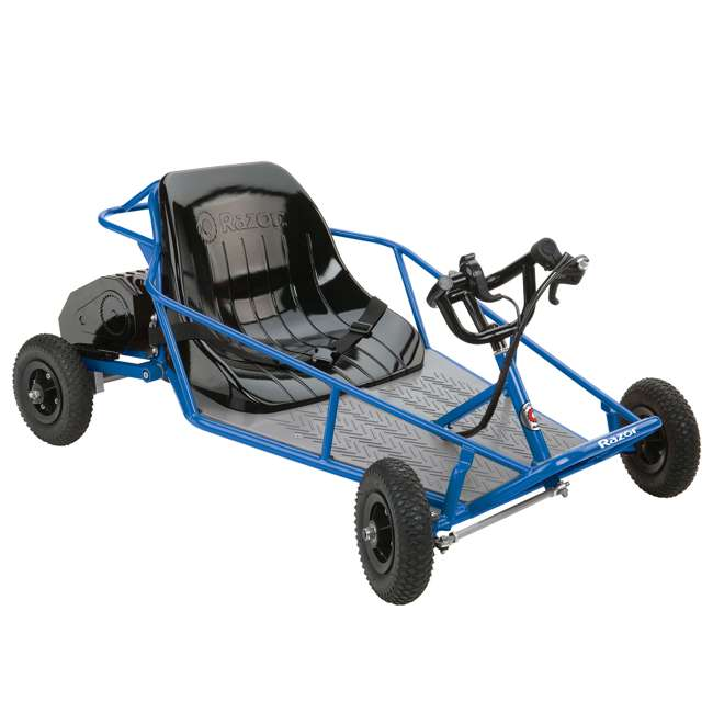 25143540 + 25143511 Razor 25143540 Kids Youth Electric Go Kart Dune Buggy, Blue FrameRazor Dune Buggy 1