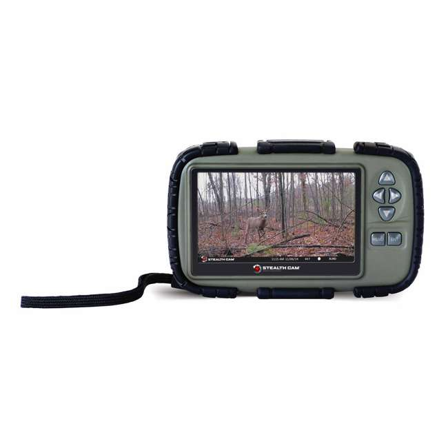 """STC-CRV43-U-C Stealth Cam 4.3"""" LCD Game Photo Viewer & SD Card Reader for Hunting (For Parts) 1"""