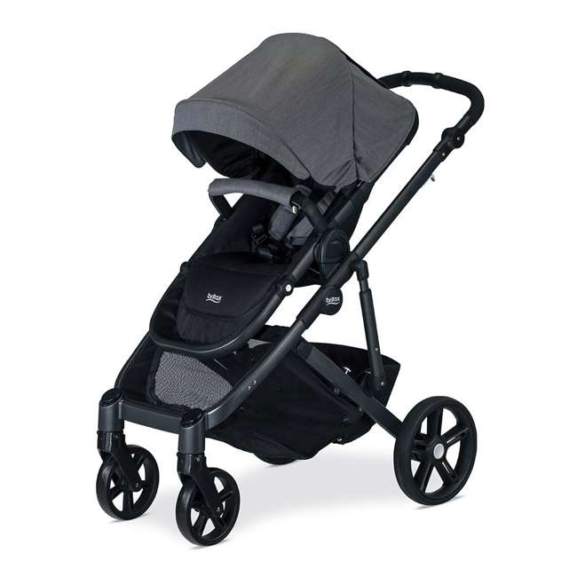 U911928 + S03634300 + S934000 Britax B Ready G3 Folding Baby Stroller, Snack Tray, and Second Seat Conversion 3