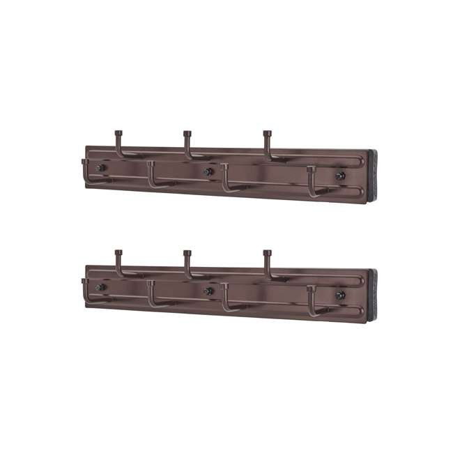 BRC-12ORB Rev-a-Shelf BRC-12ORB 12 Inch Wall Mounted Pullout Belt Rack, Oil Rubbed Bronze (2 Pack)