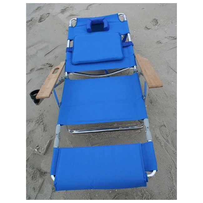 D3N1-1001B Ostrich Deluxe Padded 3-N-1 Lounge Beach Chair 5