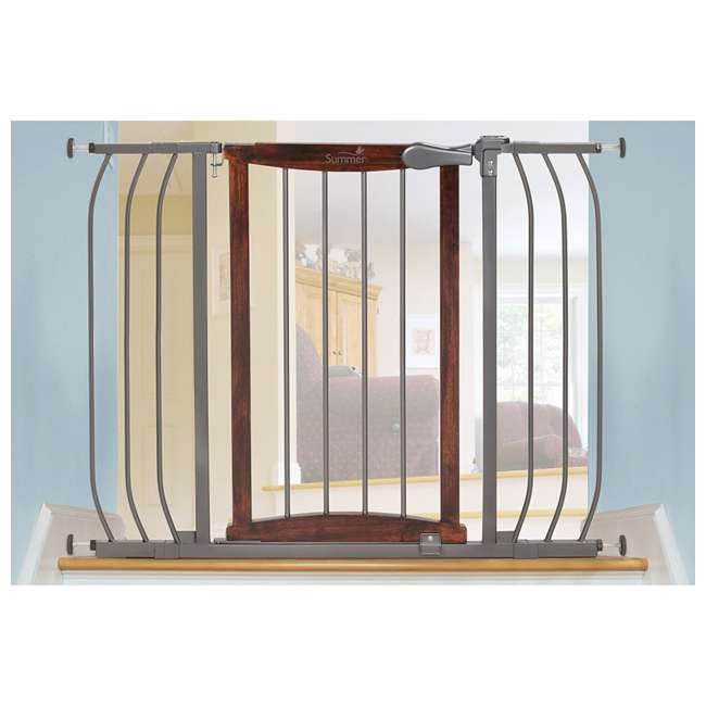 "27500A Summer Infant Anywhere Decorative Walk Thru Adjustable 42.5"" Baby Safety Gate 3"