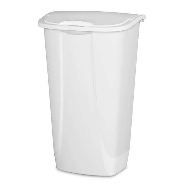 6 x 10938006-U-A Sterilite 11 Gallon SwingTop Clean White Wastebasket Can (Open Box) (6 Pack)