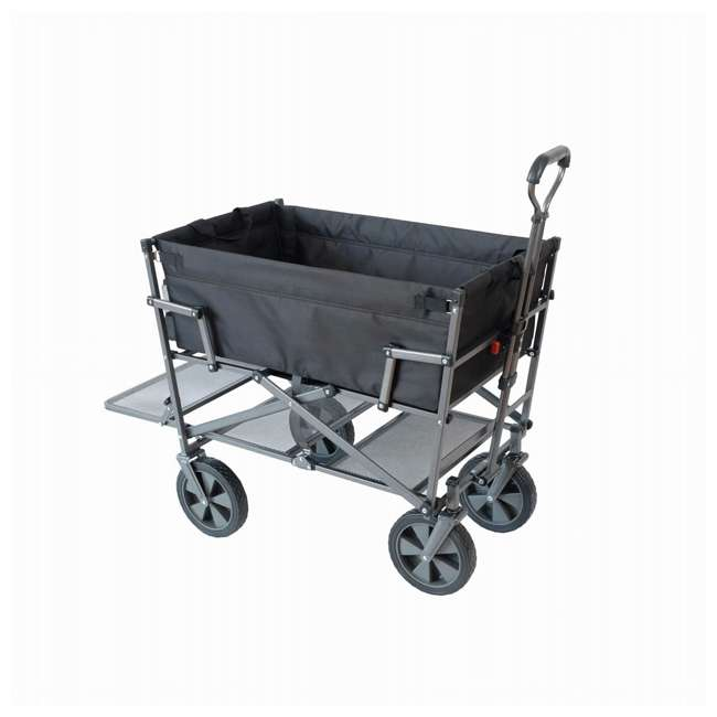 MAC-DD-106-BLACK Mac Sports Double-Decker Collapsible Yard Cart, Black (2 Pack) 1
