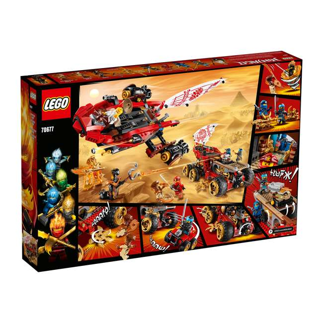 6250934 LEGO NINJAGO 70677 Land Bounty 1178 Piece Block Building Set w/ 9 Minifigures 1