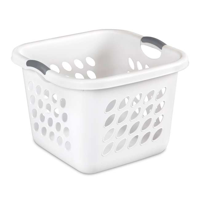 12 x 12178006 Sterilite 12178006 Ultra Square Laundry Basket with Titanium Inserts (12 Pack) 2