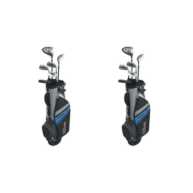 WGGC6100L Wilson Profile Complete Junior Large LH Golf Club Set, Blue (2 Pack)