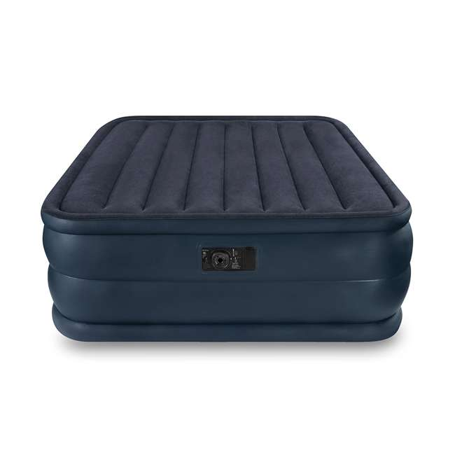 66717E Intex Queen Raised Air Mattress with Built-In Pump
