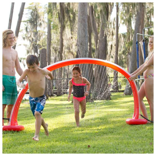 WMO-61394 Wham-O Inflatable Outdoor Water Giggle 'N Splash Rainbow Arch Sprinkler, Blue 2