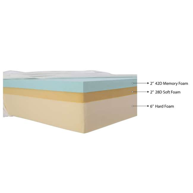 IBS-MAT-F [Copy 2] IntelliBASE 10-Inch Comfort Memory Foam Mattress, Full 3
