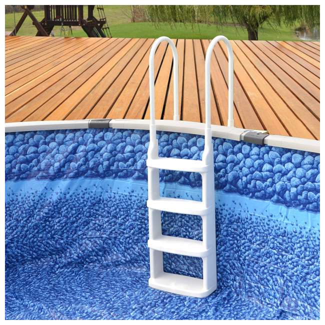 6 x 200200 Main Access 200200 Easy Incline Above Ground Swimming Pool Ladder (6 Pack) 2