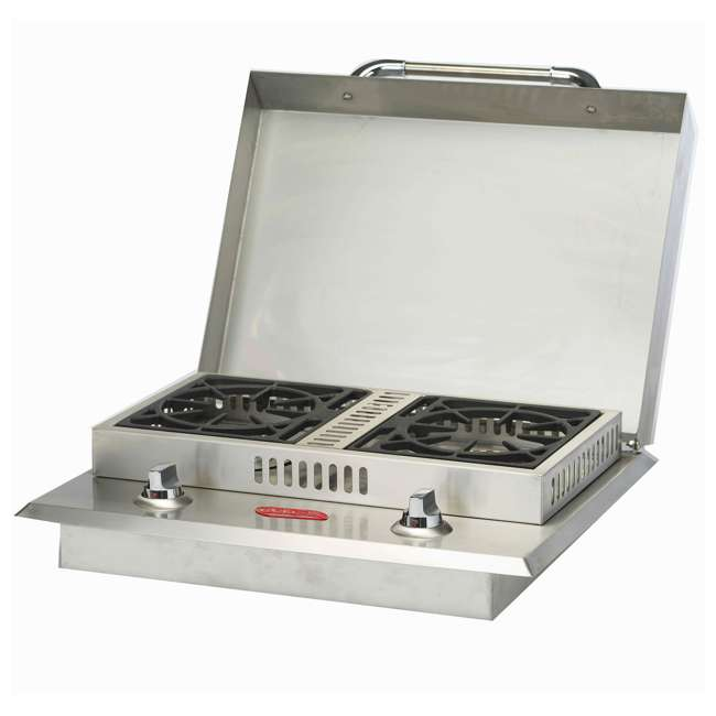 BOP-60099 Bull Outdoor Products Stainless Steel Natural Gas Double Side Burner 3