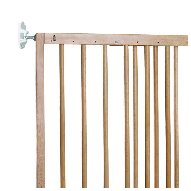BBD-57112-5400 BabyDan MultiDan Wall Mount 23.9-40.1 Inch Doorway Safety Baby Gate, Beechwood 3