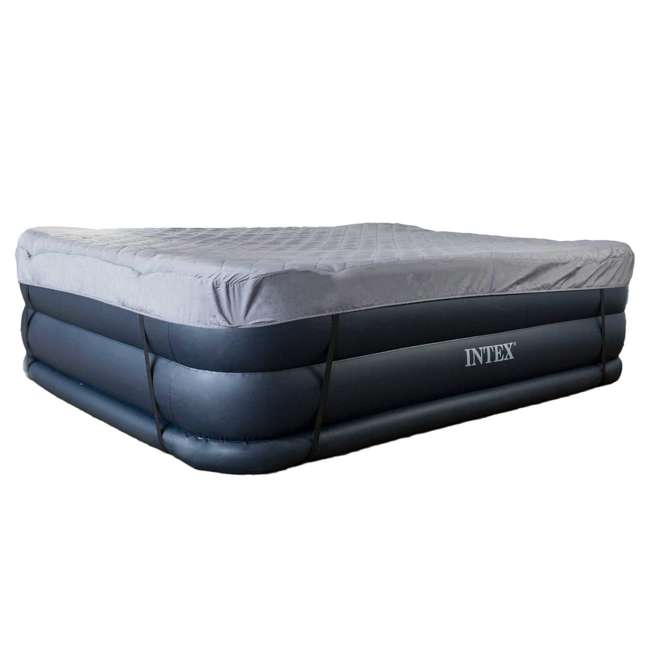 Intex Dura Beam Pillow Rest Airbed With Built In Pump Queen