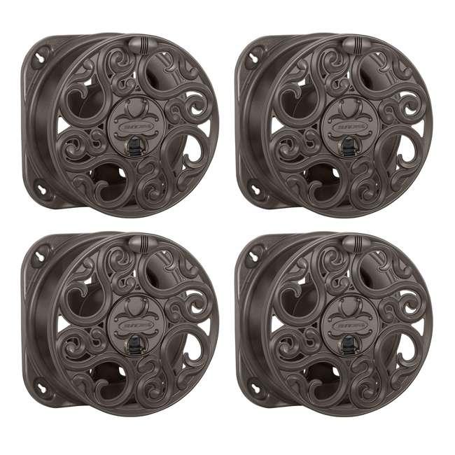 4 x CPLMJS602 Suncast 60-Foot Decorative Hose Reel, Bronze (4 Pack)
