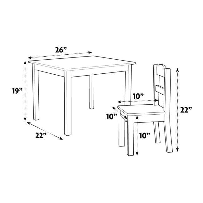 TC633 - Highlight Humble Crew Friends Highlight Collection Cedar Wood Table & 4 Primary Chair Set 4