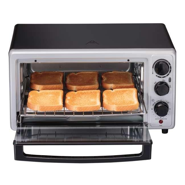 31124 Hamilton Beach Proctor Silex 6 Slice Capacity Countertop Toaster Oven, Silver 2