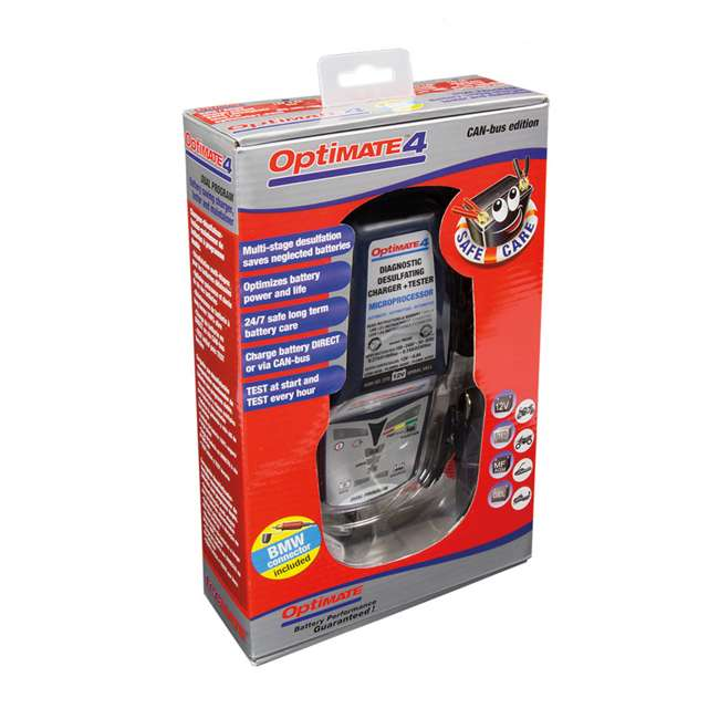 TM-351 TecMate OptiMATE 4 CAN-Bus Edition 12-Volt Battery Charger 2