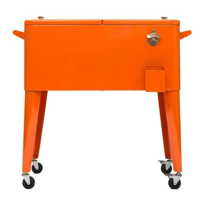PS-203-ORANGE Permasteel 80-Quart Rolling Patio Cooler (2 Pack) 1