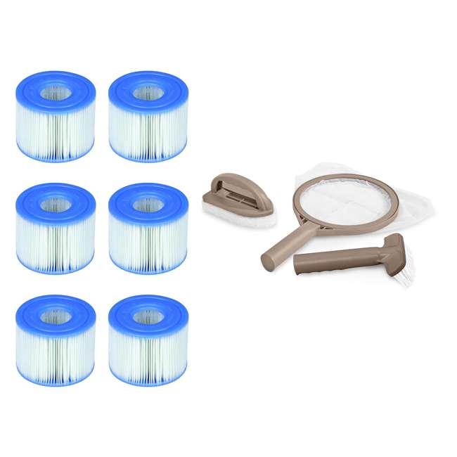 3 x 29001E + 28004E Intex PureSpa Type S1 Pool Filter Cartridges (6 Filters) & Maintenance Kit