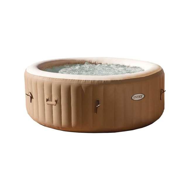 28403E + 28500E + 28501E Intex PureSpa 4-Person Inflatable Hot Tub with Drink Tray & Headrest  6