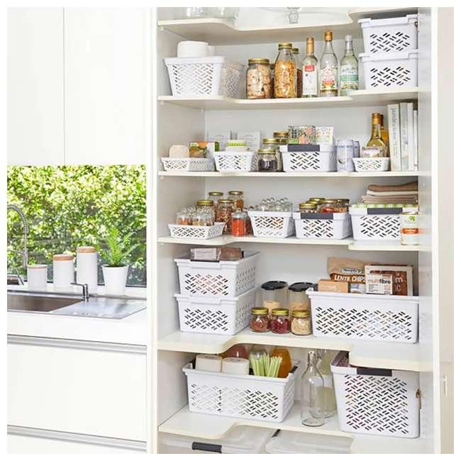 12 x FBA32138 Ezy Storage Large Decorative Plastic Brickor Shelf Pantry Basket Bin (12 Pack) 2