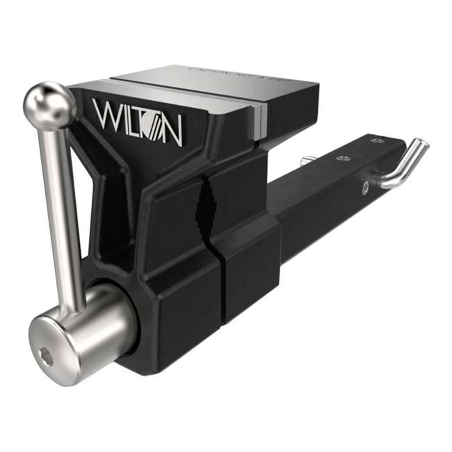 WIL-10025 + WIL-20416 Wilton 5 Inch ATV All Terrain Hitch Mounted Vise + 4 Pound HRS Steel Sledge Hammer 1