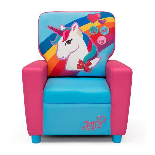 UP83637JS-1126 Delta Children Jojo Siwa High Back Upholstered Toddler Kids Chair, Pink/Blue 2