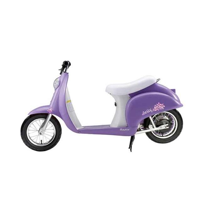15130661 + 97784 Razor Pocket Mod Electric Powered Kids Retro Scooter & Helmet 3