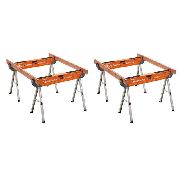 PM-4500 Bora Speedhorse PM-4500 Contractor Grade Portable Sawhorse Tool Stand (2 Pack)