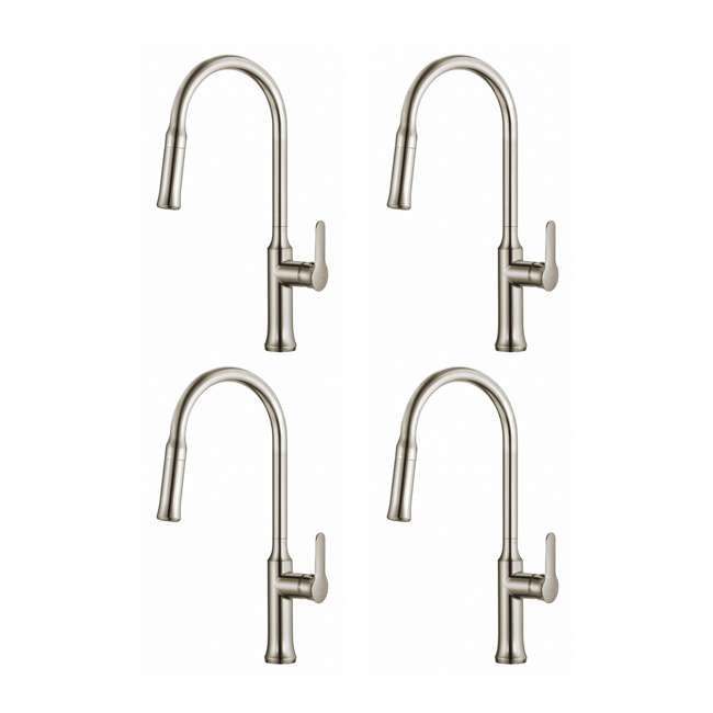4 x KPF-1630SS Kraus Nola Single Lever Pull-Down Kitchen Faucet, Stainless Steel (4 Pack)
