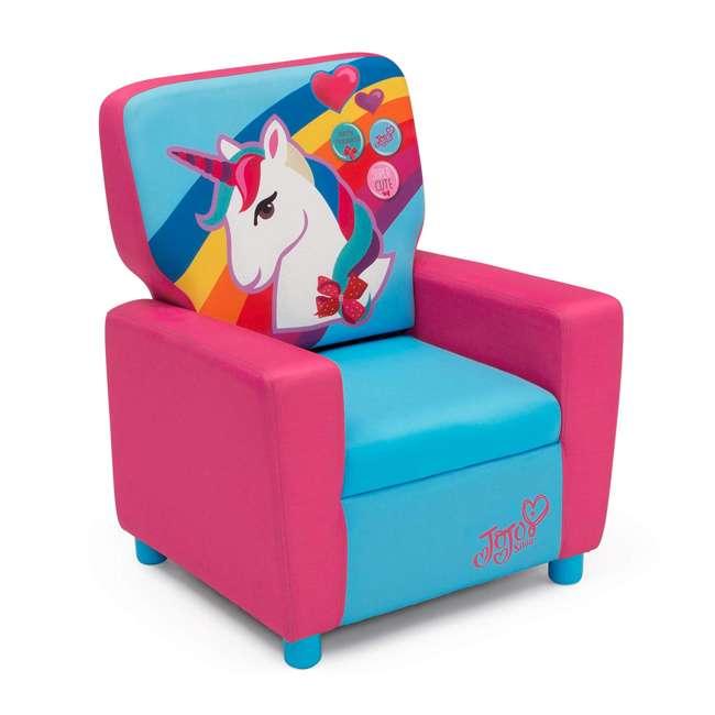 UP83637JS-1126 Delta Children Jojo Siwa High Back Upholstered Toddler Kids Chair, Pink/Blue