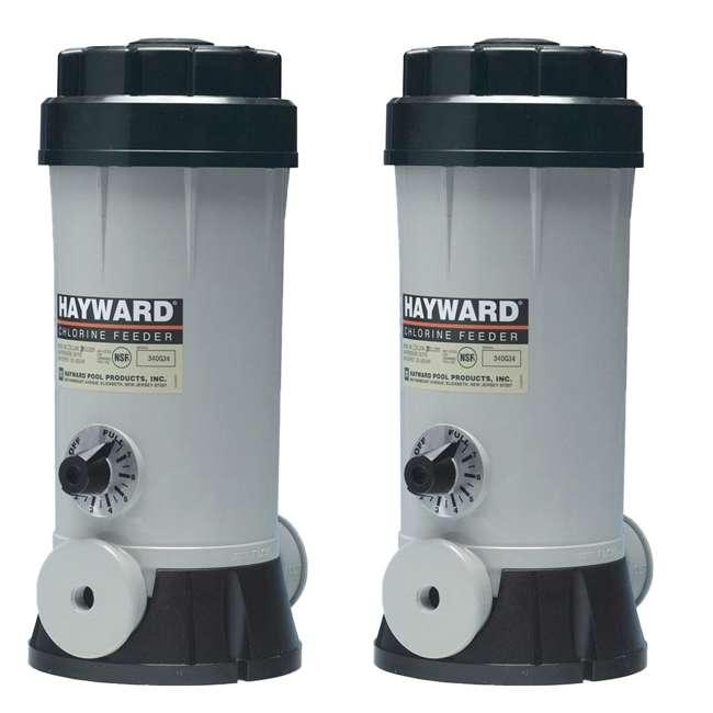 CL220ABG Hayward Above-Ground Pool Off-Line Chlorine Feeder (2 Pack)