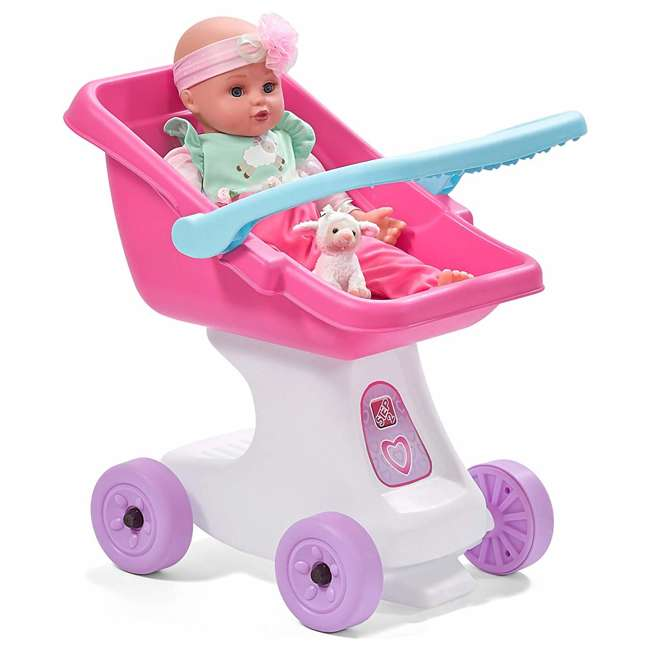 854100 Step2 Love & Care Baby Doll Kids Push Stroller Toy, Pink