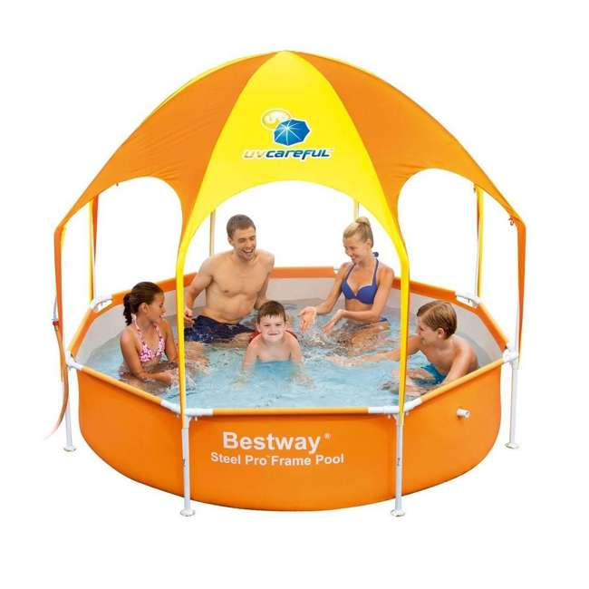 "56543-BW-U-A Bestway  8' x 20"" Splash Shade Kids' Spray Pool with Canopy  (Open Box) (2 Pack)"