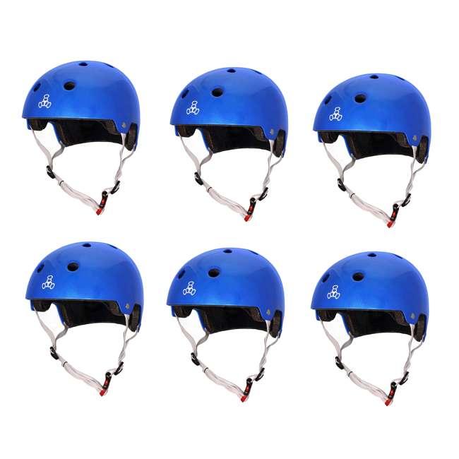 6 x T8-3070 Triple 8 Dual-Certified Skate and Bike Helmet with EPS Liner, Small/Medium (6 Pack)