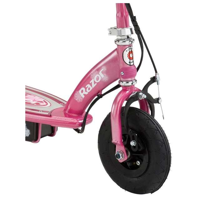 13111230 + 13111263 Razor E100 24 Volt Electric Powered Ride On Scooter, Green & Pink (2 Scooters) 7